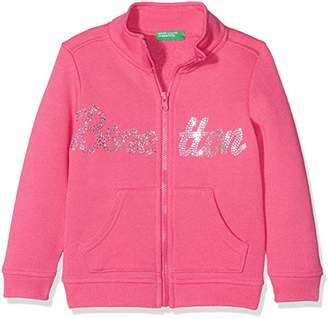 Benetton Girl's Jacket, 11-12 years (Manufacturer size: EL)Blau (Blue)