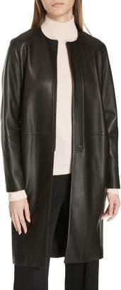 Vince Lambskin Leather Coat