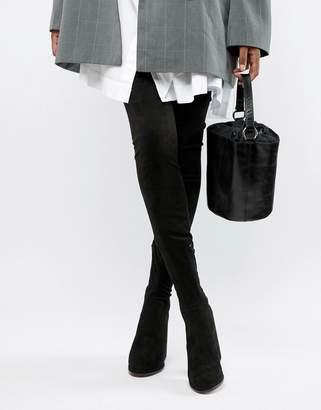 Asos DESIGN Wide Leg Kassidy heeled thigh high boots
