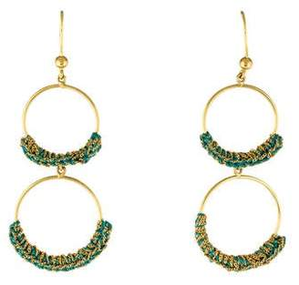 Carolina Bucci 18K Woven Double Hoop Earrings