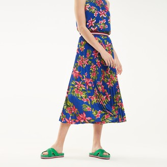 Tommy Hilfiger Pleated Floral Skirt