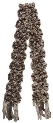 Cassin Knit Fur Scarf