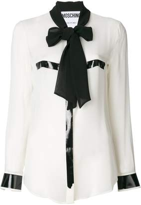 Moschino pussy bow blouse