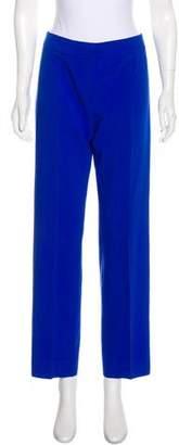 Armani Collezioni Mid-Rise Straight-Leg Pants