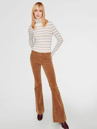White + Warren Essential Cashmere Striped Turtleneck