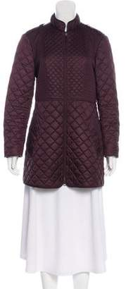 Burberry Quilted Zip-Up Coat