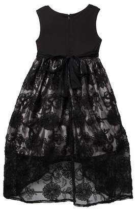 Iris & Ivy Soutache Skirt Social Dress (Little Girls)