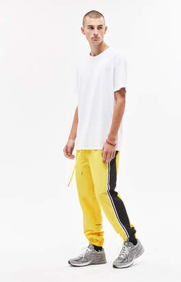Pacsun Warm Up Fleece Side Stripe Yellow Pants