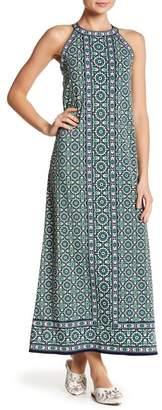 Max Studio Sleeveless Patterned Maxi Dress