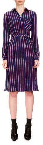 AltuzarraAltuzarra Marian Striped Silk Shirtdress, Navy/Red