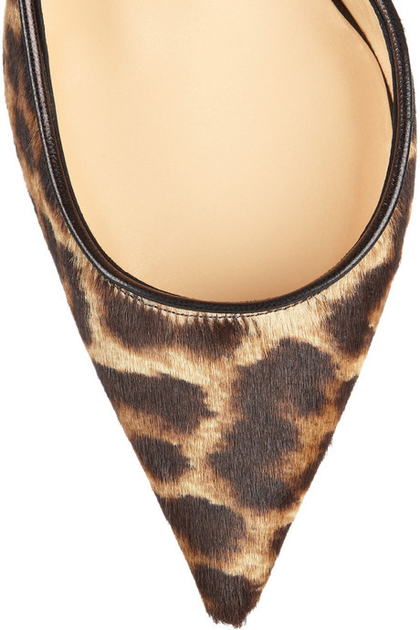 Christian Louboutin Iriza 100 leopard-print calf hair pumps