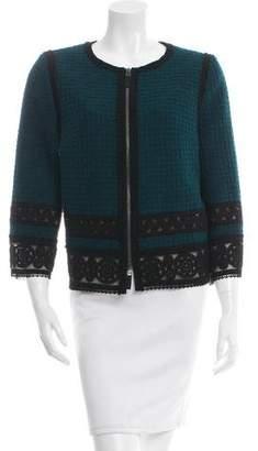 Andrew Gn Bouclé Lace-Trimmed Jacket