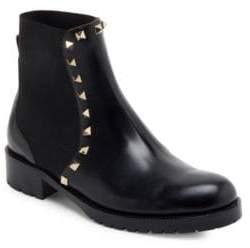 Valentino Beatle Rockstud Leather Booties