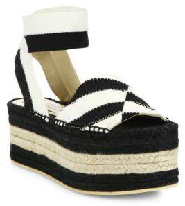 Stella McCartney Striped Platform Espadrille Sandals