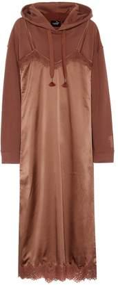 Rihanna Fenty By Cotton-blend hoodie and slip dress