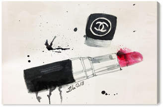 """Oliver Gal Lipstick Stains Canvas Art, 36"""" x 24"""""""
