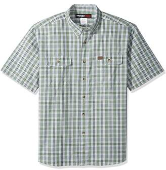 Wrangler Men's Big and Tall Riggs Workwear Foreman Plaid Work Shirt