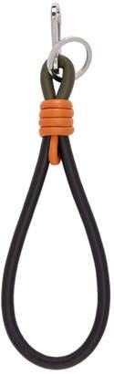 Loewe Black and Orange Handle Knot Keychain