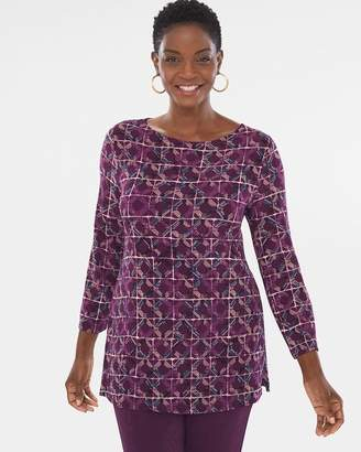 Of the Moment Travelers Classic Mosaic Tile-Print Tunic