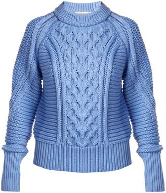 Mary Katrantzou Lance ribbed cable-knit sweater