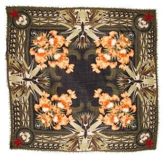 Givenchy Birds of Paradise Wool Scarf