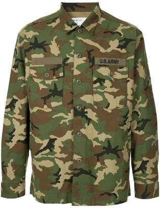 Monkey Time Camouflage Printed Shirt
