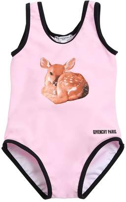 Givenchy Deer Printed Lycra One Piece Swimsuit