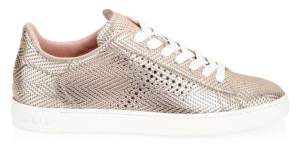 Tod's Perforated T Rose Gold Sneakers