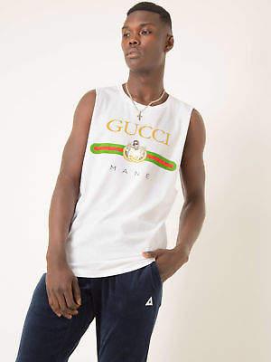 Gucci New Paidinfull Pai Mane Parod White M