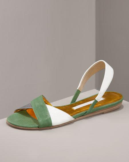 Cynthia Vincent Color-Block Sandal