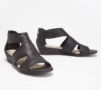 Easy Street Shoes Back Zip Wedge Sandals - Thelma