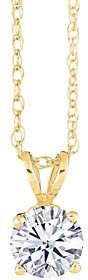 Affinity Diamond Jewelry Round Diamond Solitaire Pendant, 14K Yellow, 1/2ct by Affinity