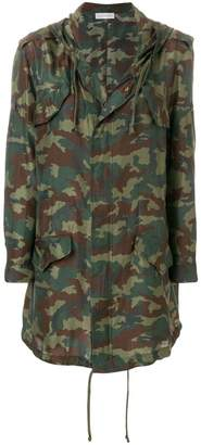 Faith Connexion camouflage print raincoat