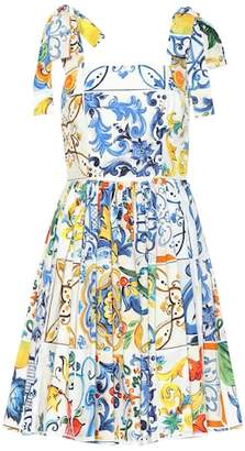 Dolce & Gabbana Majolica sleeveless cotton dress