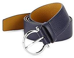 7945f4bfdf91a8 Salvatore Ferragamo Men s Gancio Buckle Belt with Extended Strap