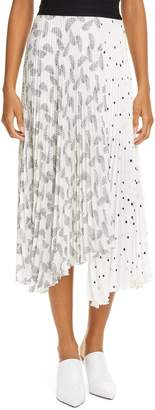 A.L.C. (エーエルシー) - A.L.C. Grainger Print Asymmetrical Midi Skirt