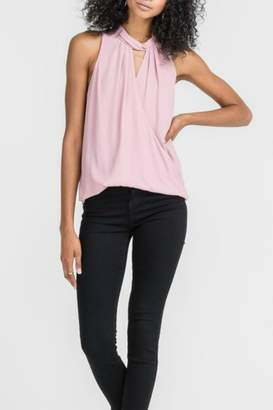 Lush Twist Neck Overlay Top