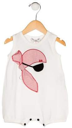 Sonia Rykiel Girls' Sleeveless Embroidered All-In-One