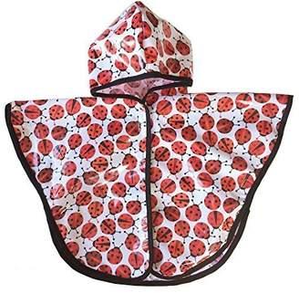 Satsuma Designs Baby and Toddler Poncho, Ladybug by