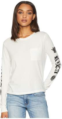 RVCA Rose Roses Long Sleeve Shirt Women's Clothing