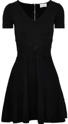 Milly Twist-Front Stretch-Knit Mini Dress