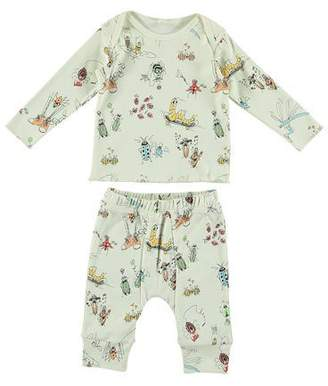 Stella McCartney Cartoon Bug-Print Long-Sleeve Top w/ Matching Leggings, Size 6-36 Months