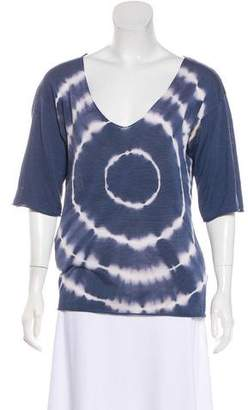 Tory Burch Tie-Dye Short Sleeve Top