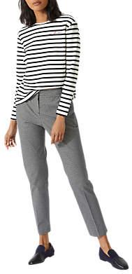 Jigsaw Micro Check Cigarette Trousers, Monochrome