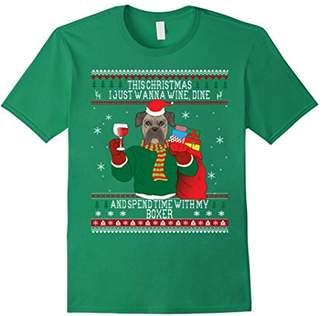 Ugly Christmas Boxer Dog T-shirt - Sweater Style
