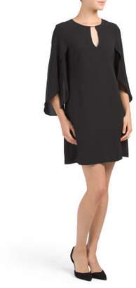 Three-quarter Split Sleeve Chiffon Dress