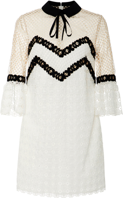 Self Portrait Embroidered Lace Dress $445 thestylecure.com