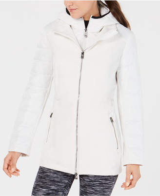 Calvin Klein Quilted-Sleeve Soft-Shell Walker Jacket
