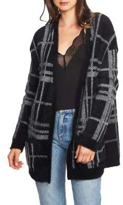 1 STATE Boy Meets Girl Cozy Plaid Cardigan