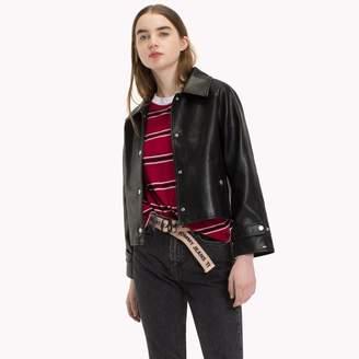 Tommy Hilfiger Leather-Like Coaches Jacket